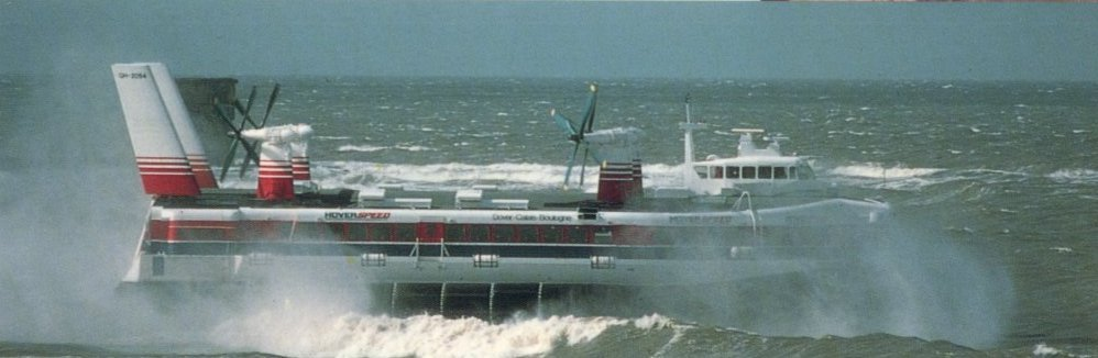 SRN4 hovercraft at sea