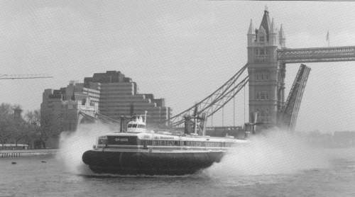 SRN4 hovercraft in London